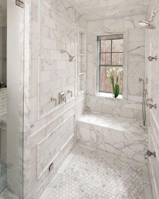 30 Modern Marble Floor Tile Design Ideas For Bathroom Toiletandbathdesign Marble Bathroom Designs Bathroom Design Marble Tile Bathroom