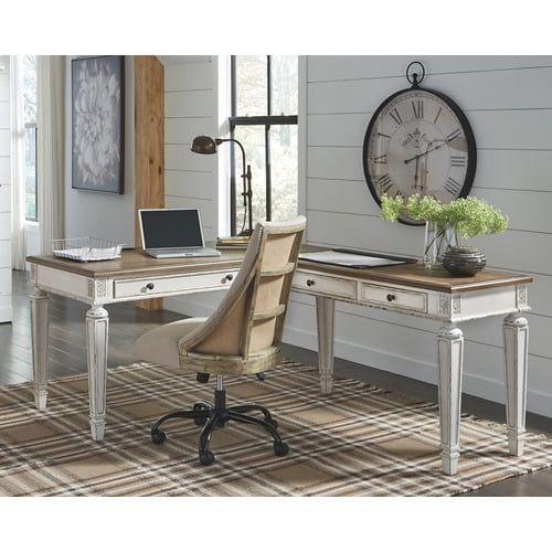 H74334r In By Ashley Furniture In Hackettstown Nj Realyn Home Office Desk Return In 2020 Home Office Furniture Office Desk Home Office Desks