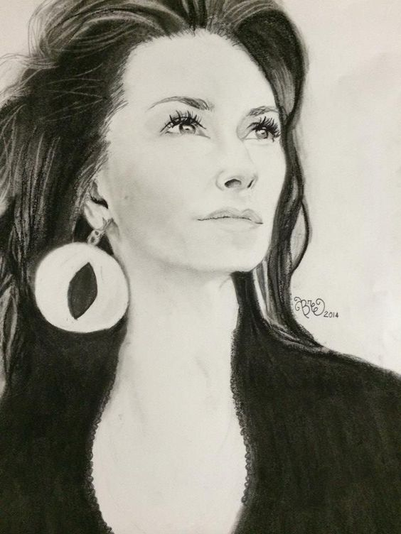 my drawing of Shania Twain