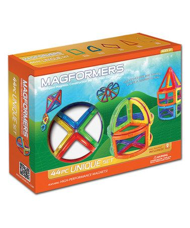 Look what I found on #zulily! Unique 44-Piece Magnetic Building Set #zulilyfinds