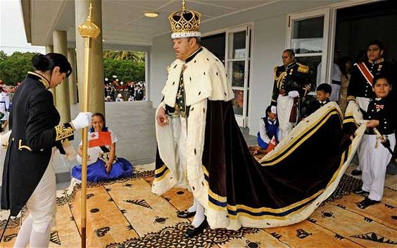 King George Tupou V at his coronation ceremony in 2008.    Photo: AFP/Getty Images
