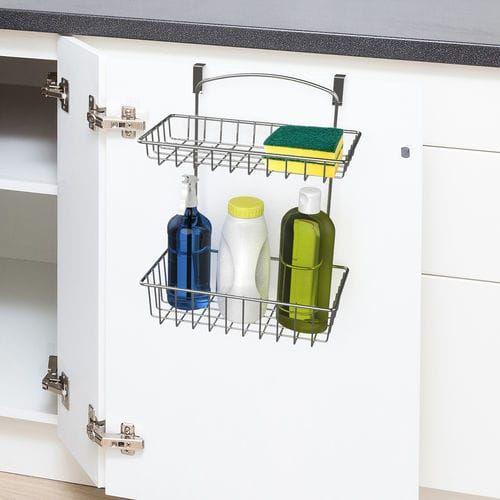 Over The Cabinet 2 Tier Basket Shelf Pier 1 Imports Kitchen Storage Organization Basket Shelves Bathroom Organization