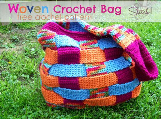 crochet tutorials gray crochet bags crochet patterns felt plastic bags ...