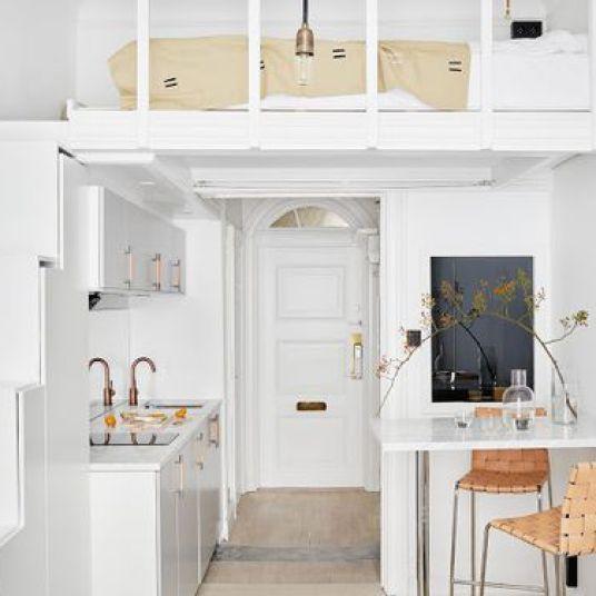 comment am nager un studio un coin nuit dans un espace de vie gr ce une mezzanine comment. Black Bedroom Furniture Sets. Home Design Ideas
