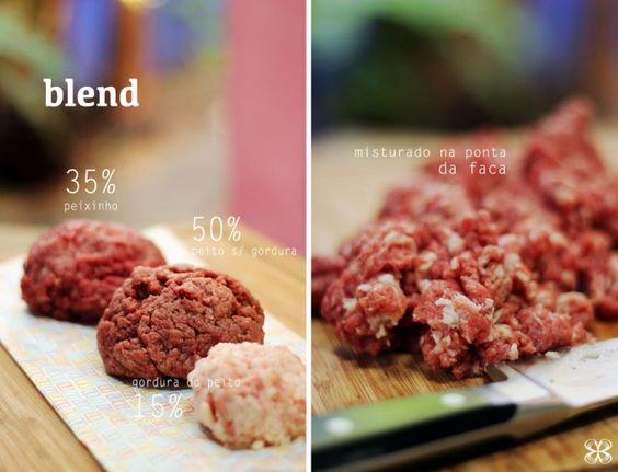 Preparo do blend para hambúrguer - peito/peixinho/gordura do peito - homemade hamburger