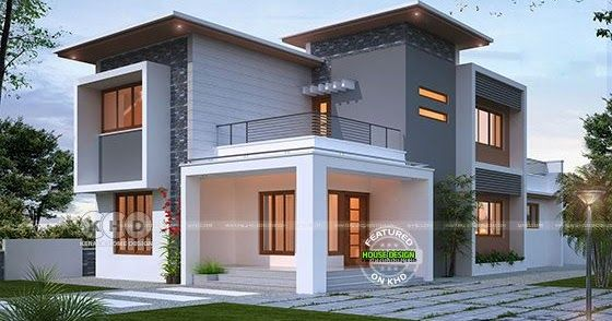 Pure Flat Roof Contemporary Home 1839 Sq Ft In 2020 Kerala House