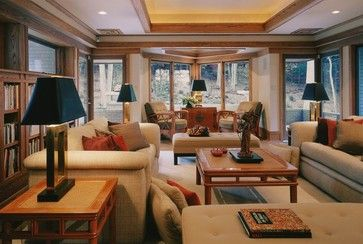Prairie Style Architecture contemporary family room