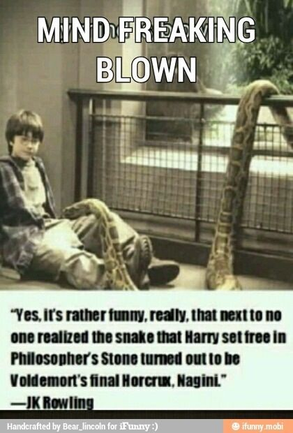 That's not true. The snake harry released was a constrictor and was non venomous. Nagini was a venomous cobra