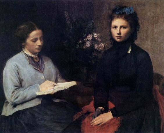 The Reading (1870). Henri Fantin-Latour (French, 1836-1904). Oil on canvas. Museu Calouste Gulbenkian, Lisbon.: