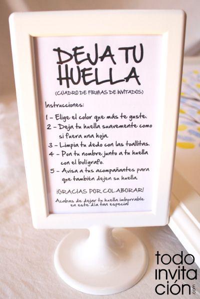 Cuadros de firmas con huellas en tu boda o celebración (árbol de huellas) | Diseño de invitaciones originales y muchas ideas +