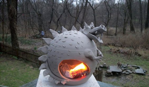 Gary's third pottery blog: fire breathing dragon....: