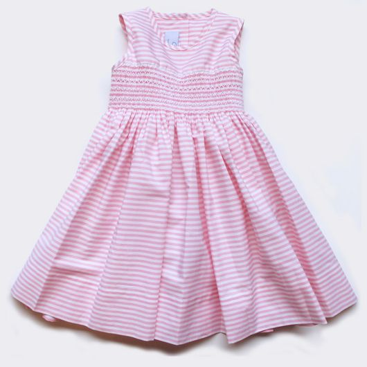 Baby CZ | Camille dress, pink and white stripe