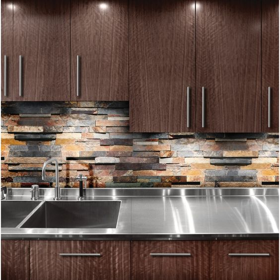 Kitchen Backsplash Rock: Shop Oxide Ledgestone Natural Stone Indoor/Outdoor Wall