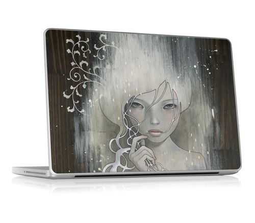 She who dares - by Audrey Kawasaki  laptop skin, graphic design