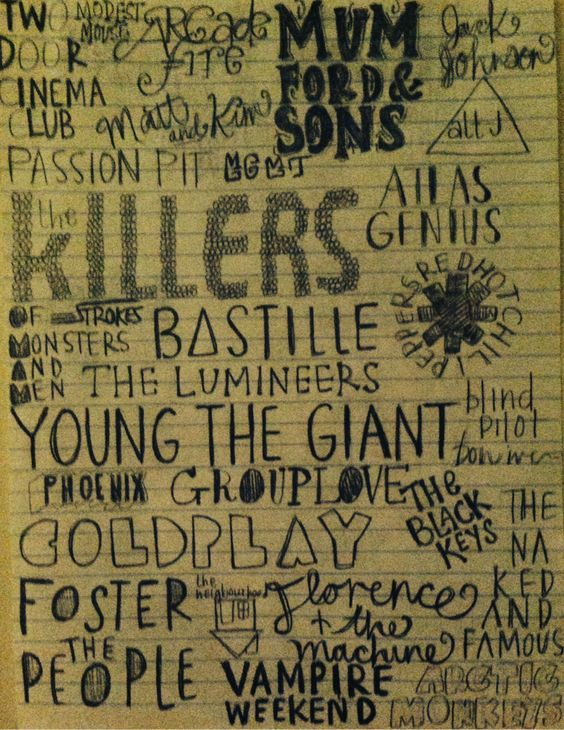 the best of indie/alternative music i pretty much love everyone on here...
