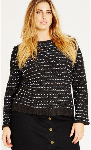 Colored Zip Fun Sweater from City Chic
