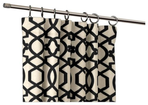 Love Custom Black And White Geometric Ring Top Drapery Panel Decor Pinterest