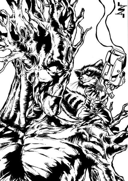'Guardianes de la galaxia': Los mejores 'fan art' de Groot y Mapache Cohete - Álbum de fotos - SensaCine.com