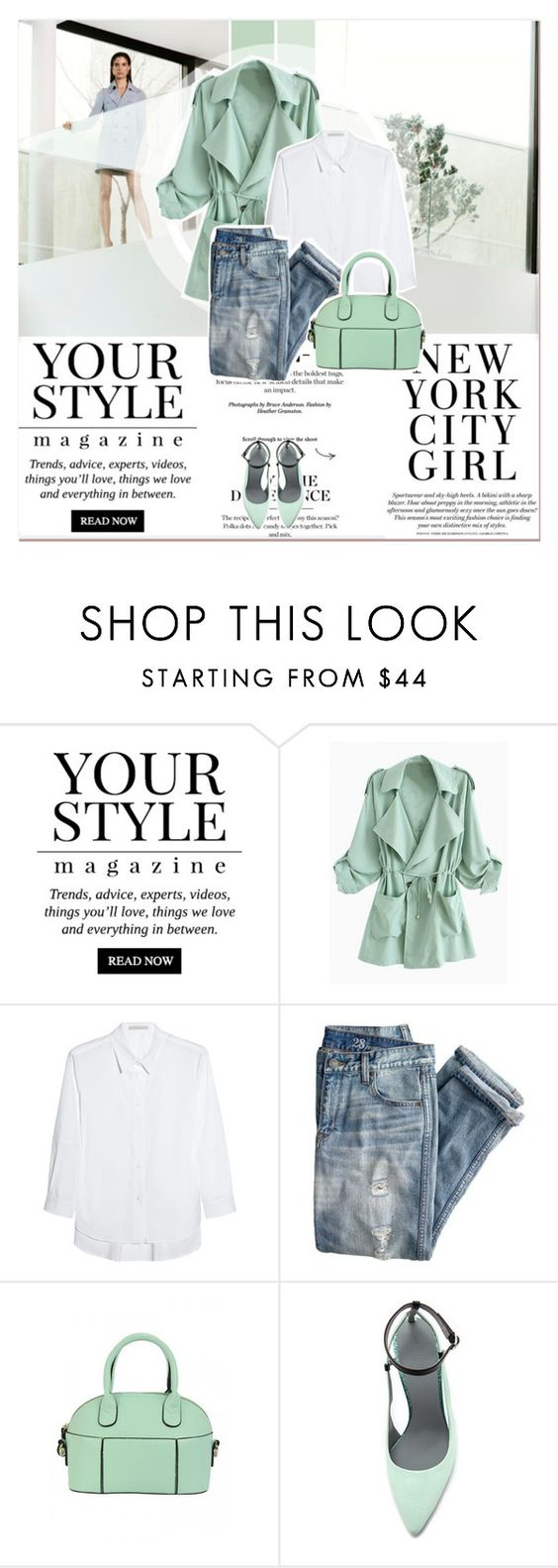 """Menthol Look"" by lucky-1990 ❤ liked on Polyvore featuring Pussycat, dVb Victoria Beckham, J.Crew and Alexander Wang"