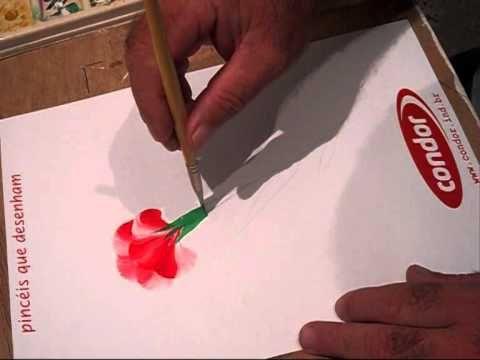 Pintura Gestual - Cravo Vermelho