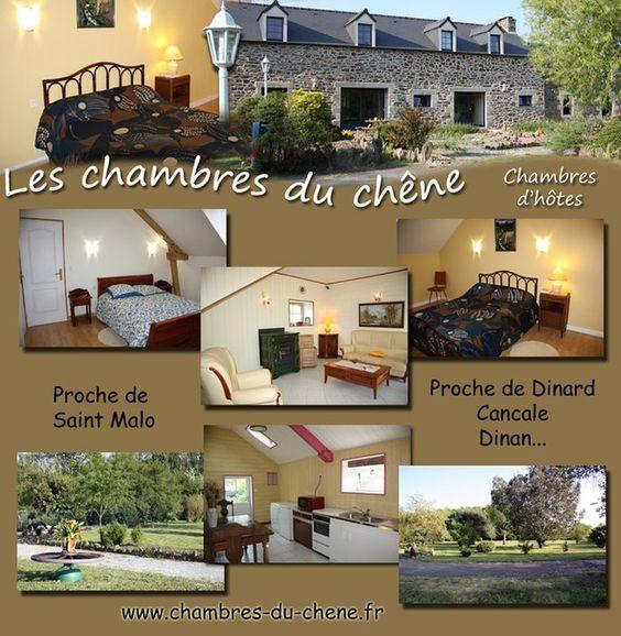 Chambres d'hôtes tout près de St Malo en campagne et à quelques minutes de Dinan et du Mont St Michel. http://www.chambres-du-chene.fr