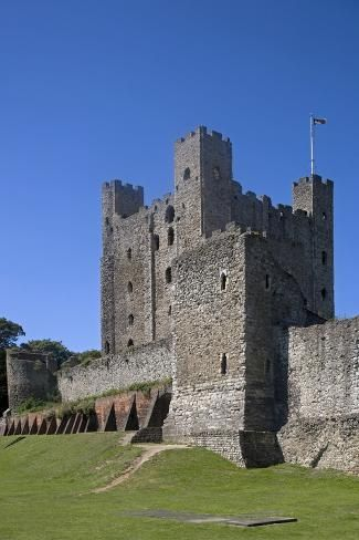 Photographic Print: Keep of Rochester Castle Built in 1127 by William De Corbeil : 24x16in