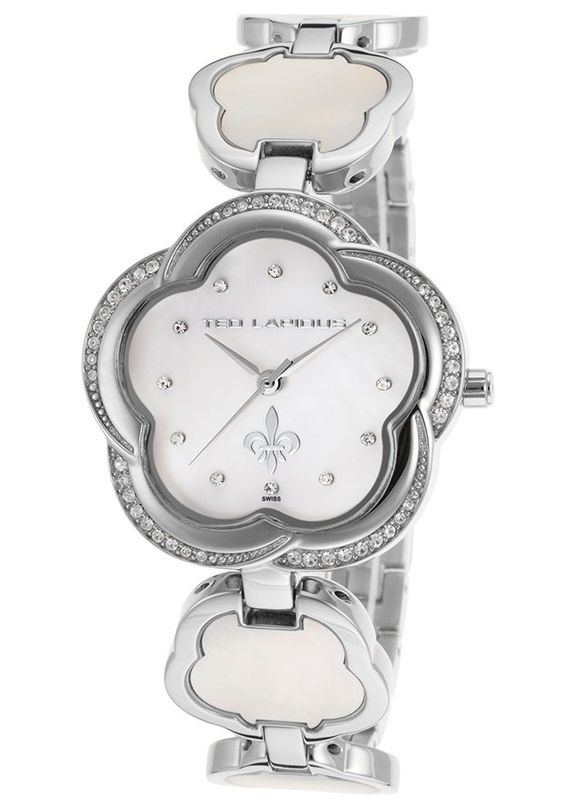 Ted Lapidus Watches Women's Crystal Silver-Tone Stainless Steel White MOP Dial A0554RAPXSM,    #TedLapidus,    #A0554RAPXSM,    #Fashion