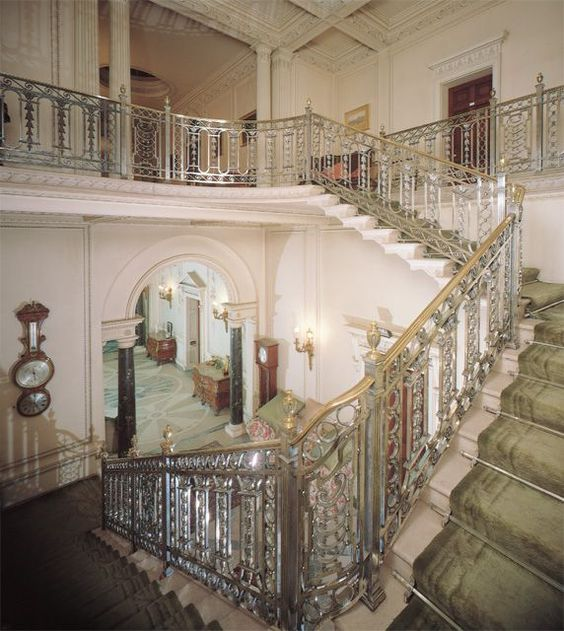 The cantilevered marble stairs were inspired by Madame de Pompadour's staircase at the Petit Trianon, Versailles. Description from localiguide.com. I searched for this on bing.com/images