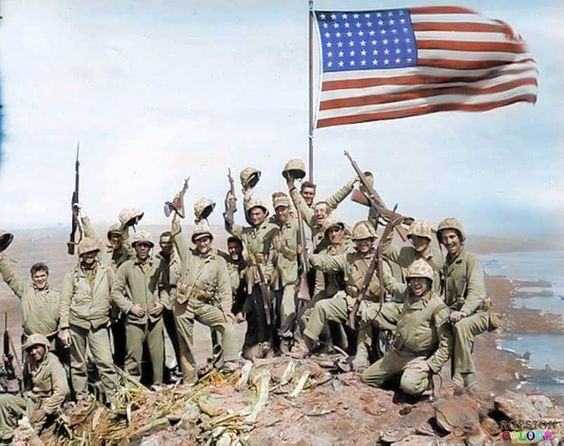 The Marine who led the charge to place the first American flag above Iwo Jima on…