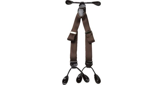 Check this out! Fancy Big and Tall Brown Silk Braces - Belts & Suspenders from MensWearhouse. #MensWearhouse