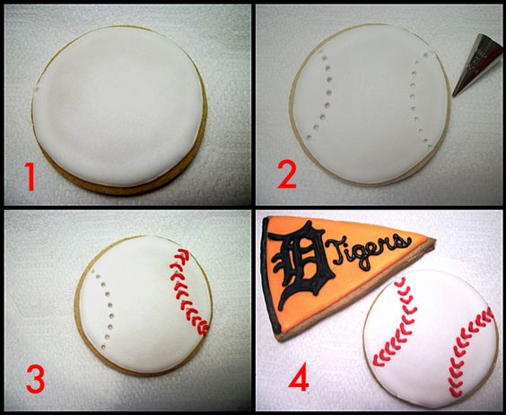 For All Star Game celebration - Baseball Cookie Tutorial