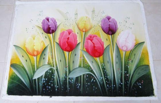 Menakjubkan 12 Lukisan Bunga Dari Crayon Jual Lukisan Bunga Tulip Motif Menarik Kota Denpasar Bali Bagus Art Tokope Gambar Bunga Lukisan Kanvas Lukisan Bunga