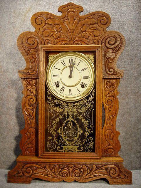 Clocks Decor 1905 1910 Kitchen Clock Read More Antique Clocks Vintage Clock Antiques