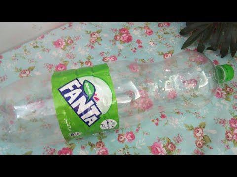 اتحداكى ترميها بعد الفيديو ده لو عندك زجاجة بلاستيك فاضية أوعى ترميها ادخلي بسرعة وشوفي عملت إيه Diy Youtube Volvic Bottle Water Bottle Bottle