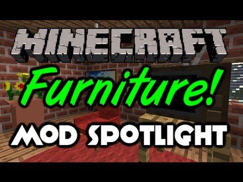 Minecraft - Furniture Mod Spotlight - Make A House A Home! (Minecraft Mod Spotlight) - http://homeimprovementhelp.info/home-decor/minecraft-furniture-mod-spotlight-make-a-house-a-home-minecraft-mod-spotlight/