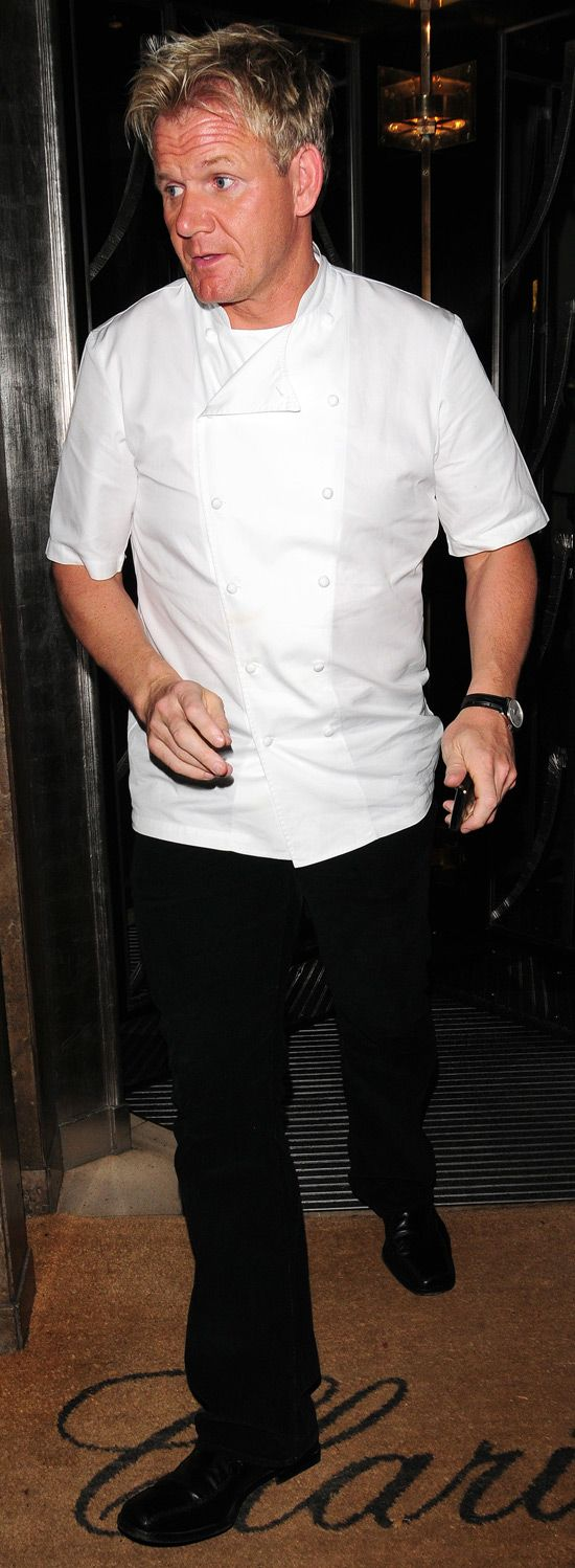 Gordon Ramsay dressed in his chef's uniform at Claridge's ...