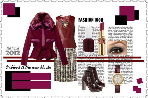 """""""Oxblood is the new black"""" by colorware on Polyvore"""