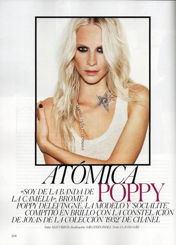 Poppy Delevingne by Matt Irwin for Vogue Spain April 2012