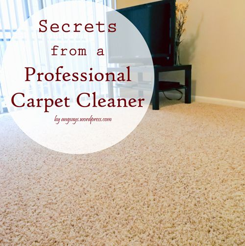 Secrets From A Professional Carpet Cleaner Pinterest