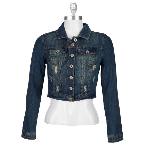Highway Jeans Juniors Distressed Denim Jacket #VonMaur | Fashion ...