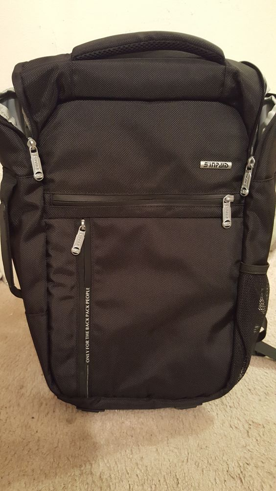 Not only is this my cool new backpack, but its a laptop carrier too! #SideHandle Love this for when I'm carrying my laptop and have to go into work! #Professional #Spacious #sleek  https://www.amazon.com/dp/B01C442DSQ/ref=cfb_at_prodpg
