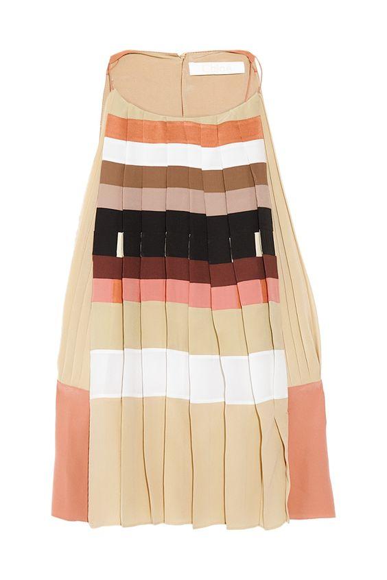 Chloé: Chloé Stripes, Chloé Pleated, Pleated Silk, De Chine