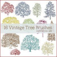 Vintage Tree Brushes by ~figandlily on deviantART