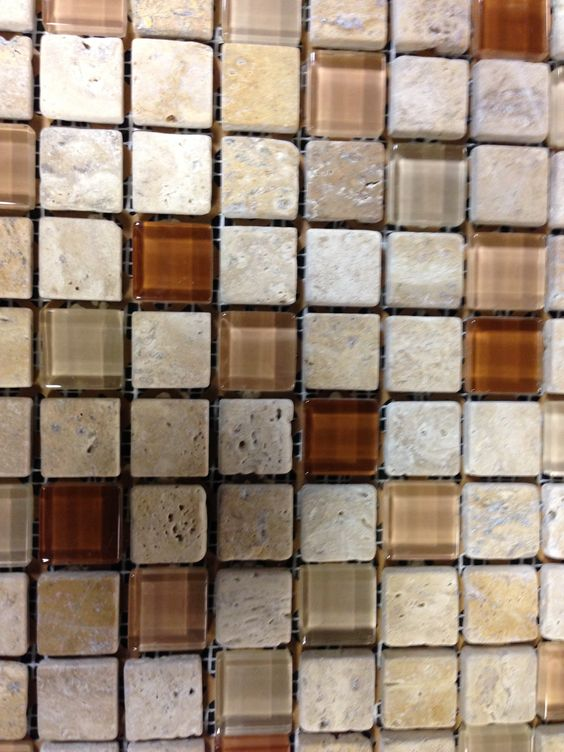 Kitchen backsplash tumbled stone and glass kitchens for Tumbled glass tile