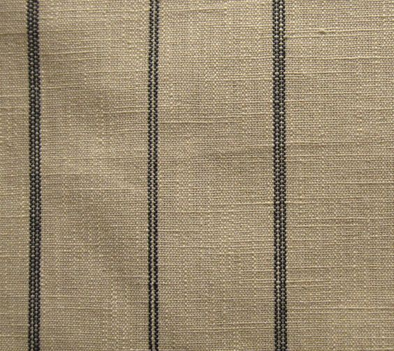 Natural Black Stripe Fabric