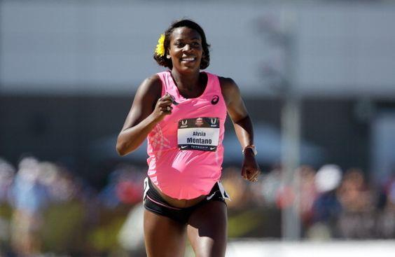 34 weeks pregnant, 800 m Olympic athlete  Alysia Montano