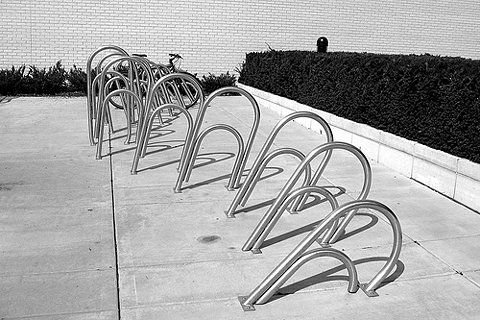 Paperclip bike rack