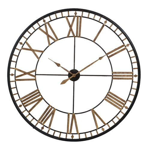 Werkstadt Oversized Steel 120cm Analogue Wall Clock Metal Clock Large Metal Wall Clock Clock