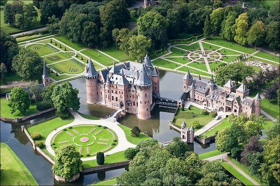 Castel the Haar at Haarzuilens at Utrecht