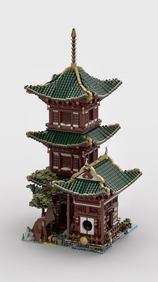 Temple Of Hermit Hermit Temple Lego Architecture Lego Lego Design